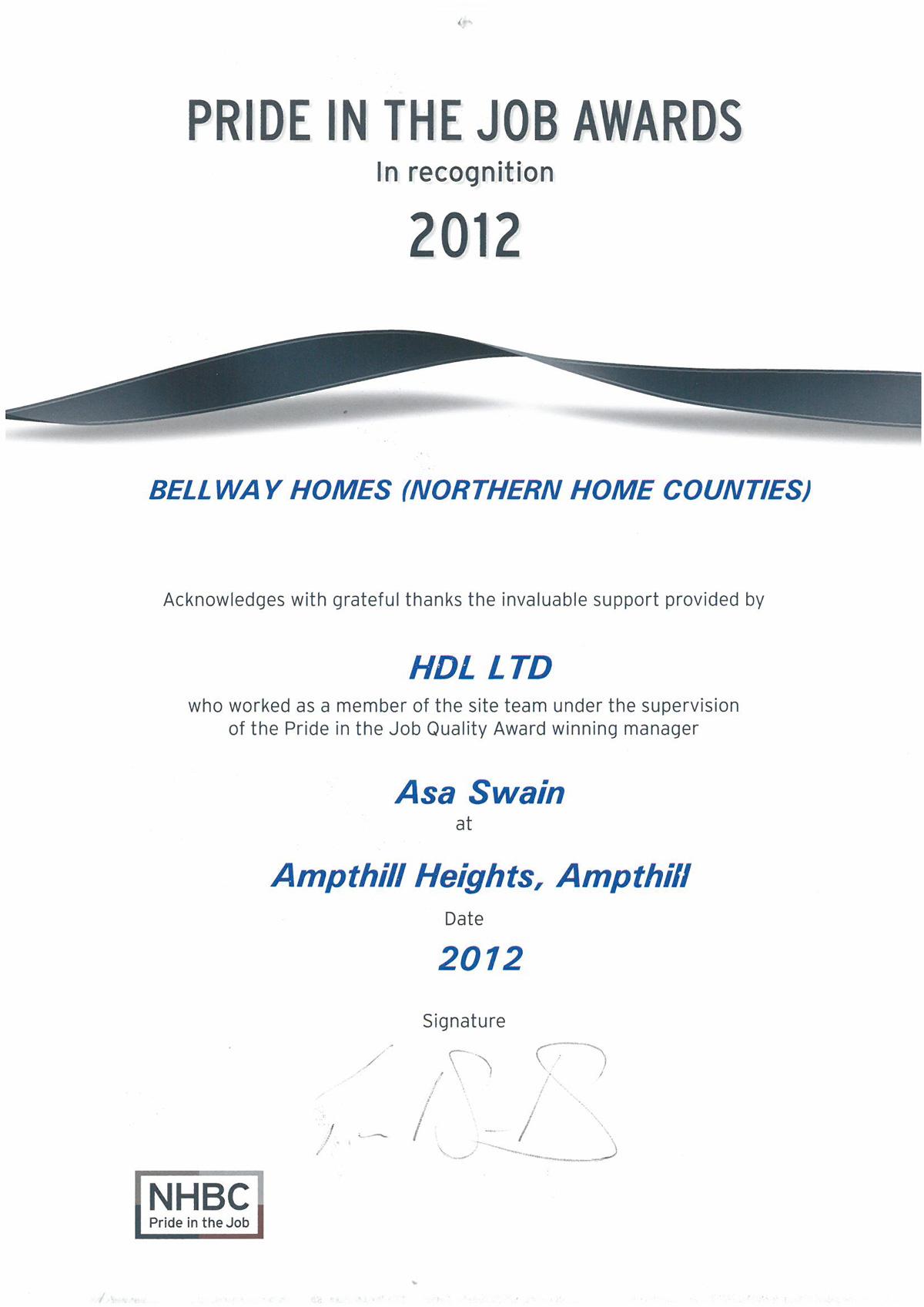 Bellway-Ampthill-Certificate