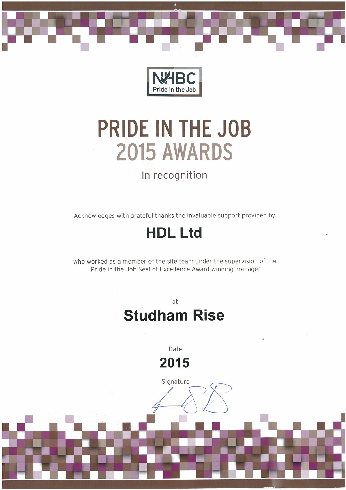 Bellway-Studham-Certificate