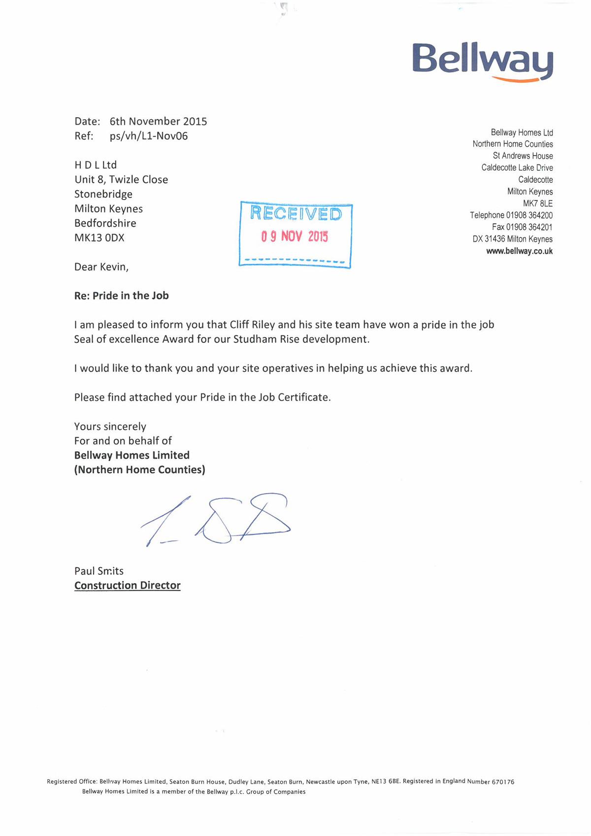 Bellway-Studham-Letter